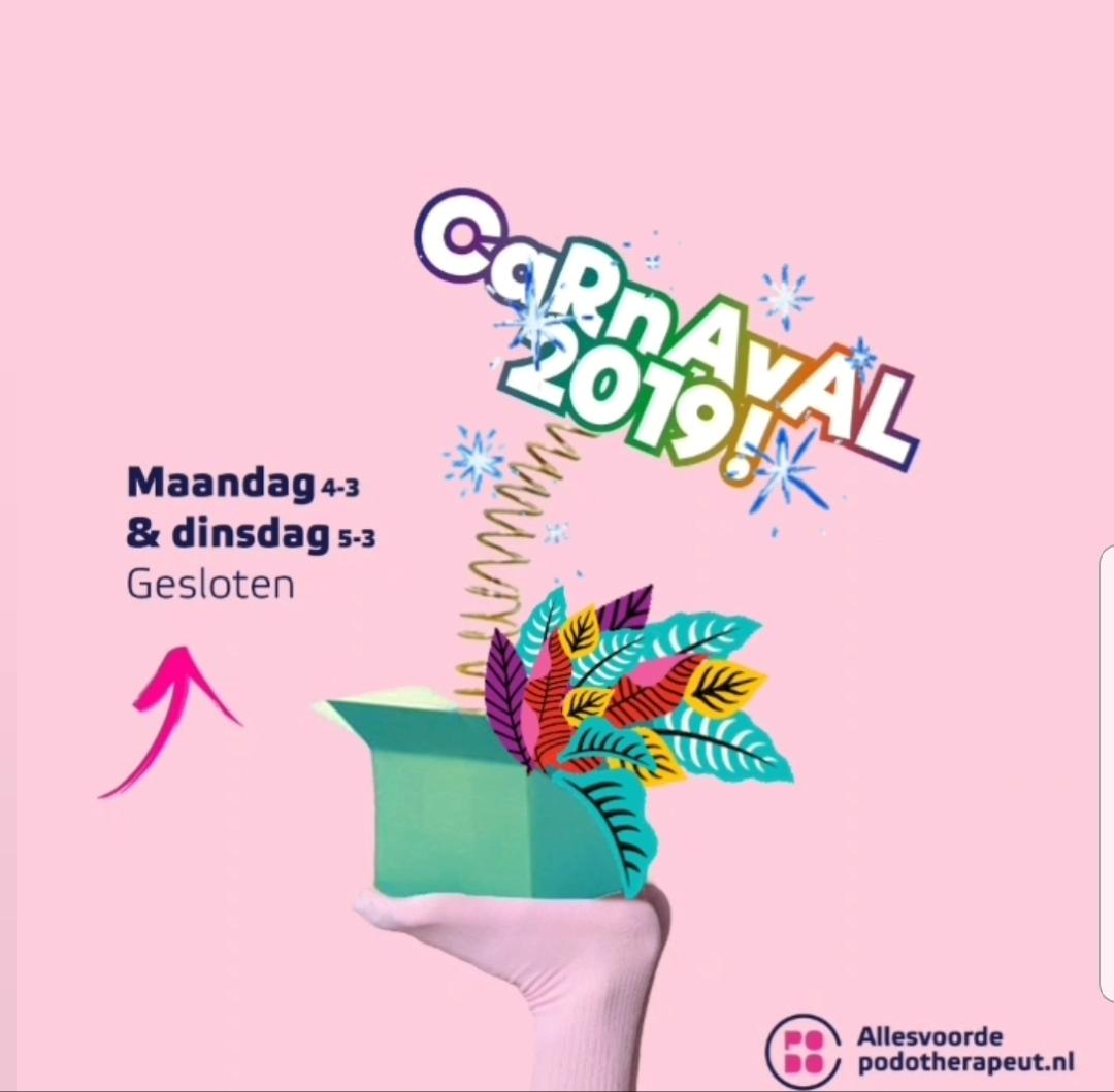 Carnaval bij allesvoordepodotherapeut